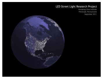 LED Street Light Research Project