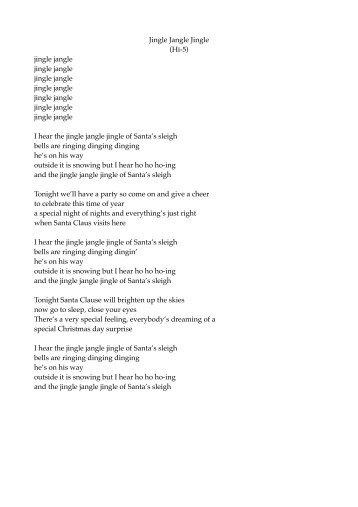 Jingle Bell Lyrics Pdf