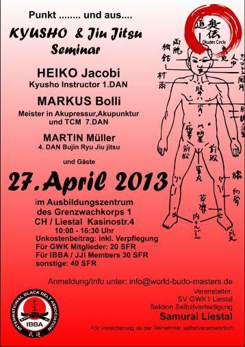 KYUSHO & Jiu Jitsu Seminar - Budo-News