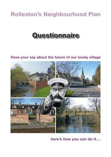 Neighbourhood Plan Questionnaire - Rolleston-on-Dove