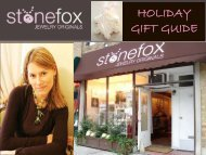 holiday gift guide - Shop Online At Stonefox Jewelry Originals ...
