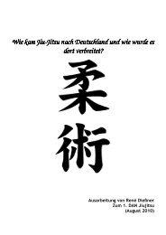 Wie kam Jiu Wie kam Jiu-Jitsu nach Deutschland und wie wurde es ...