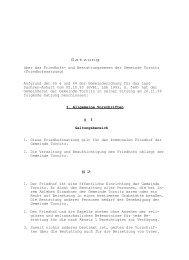 Satzung über das Friedhofs- und Bestattungswesen der ... - Barby