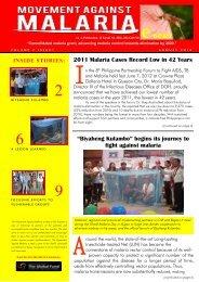 "2011 Malaria Cases Record Low in 42 Years ""Biyaheng Kulambo ..."