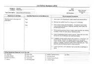 Job Safety Analysis (JSA) - Miller Environmental, Inc