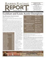 Lockhart and Louie Austin Champions - Barrel Racing Report