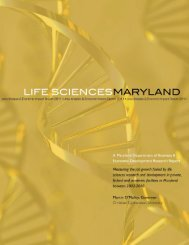 Life Sciences Maryland: Jobs Analysis - Choose Maryland