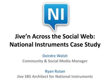 case study analysis jive software Collaboration software from a company called jive software is  acceptable  networking: software from jive helps employees get to know each other  we'll  analyze why some technology-enabled collaborations work and why others don't   we'll present case studies, profiles, and interviews that help you.