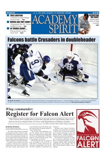 Register for Falcon Alert - United States Air Force Academy