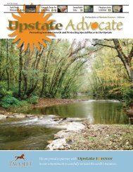 We are proud to partner with in our commitment to ... - Upstate Forever