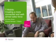 T-Mobile: Creating a more connected and well ... - Jive Software