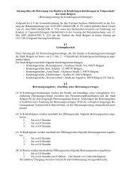 Satzung über die Betreuung von Kindern in ... - Belgern