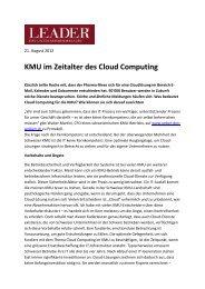 KMU im Zeitalter des Cloud Computing
