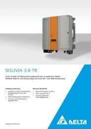 SOLIVIA 3.6 TR - Solemio Solar