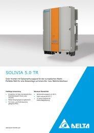 SOLIVIA 5.0 TR - Solemio Solar