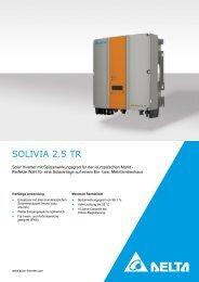 SOLIVIA 2.5 TR - Solemio Solar