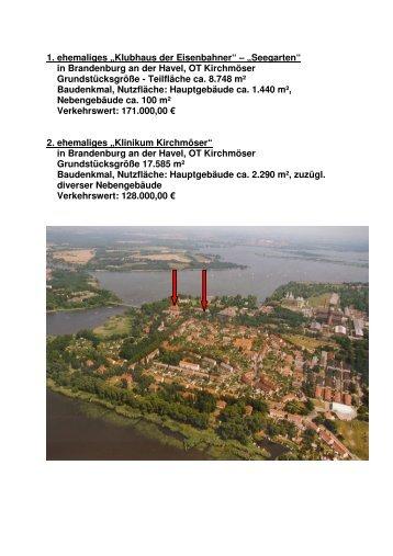 """1. ehemaliges """"Klubhaus der Eisenbahner"""" – """"Seegarten"""" in ..."""