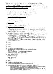 Öffentliche Ausschreibung gemäß § 3 Abs. 1, S. 1, Abs. 2, S. 1 VOL/A