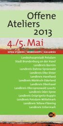 4./5.Mai Offene Ateliers 2013 - Havelland