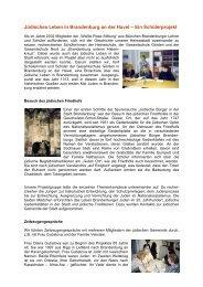 Jüdisches Leben in Brandenburg an der Havel – Ein Schülerprojekt