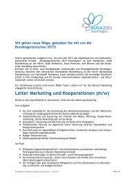 Leiter Marketing und Kooperationen (m/w) - Brandenburg an der ...
