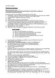 Veröffentlichungstext Öffentliche Ausschreibung Brandenburg an ...