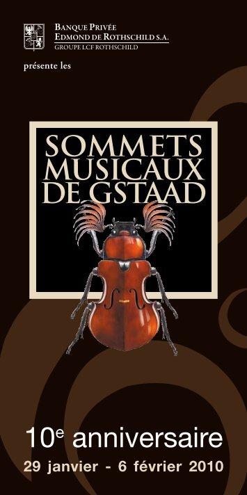 10e anniversaire - Sommets musicaux de Gstaad