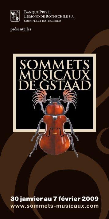 30 janvier au 7 février 2009 - Sommets musicaux de Gstaad