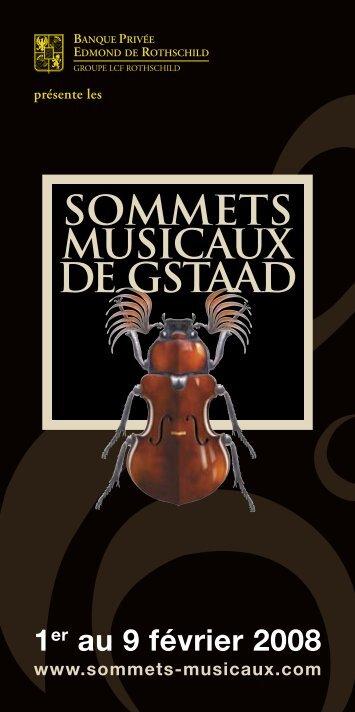 Télécharger le programme en PDF - Sommets musicaux de Gstaad