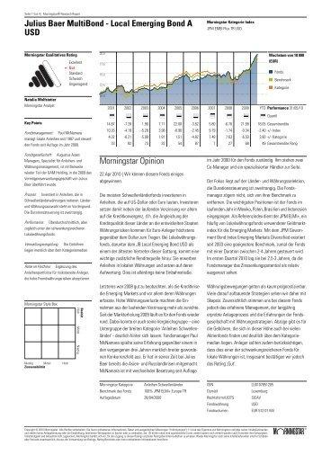 Julius Baer MultiBond - Local Emerging Bond A USD Morningstar ...