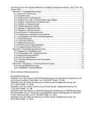 Verordnung über die Vergabe öffentlicher AufträgeH\)