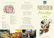 Altstadtfest 2012 - Stadt Freinsheim