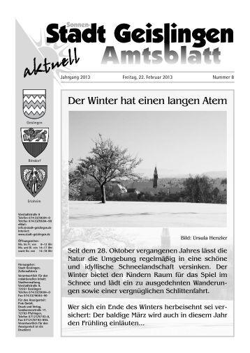Amtsblatt Geislingen KW 8 - Stadt Geislingen