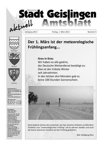 Amtsblatt Geislingen KW 9 - Stadt Geislingen