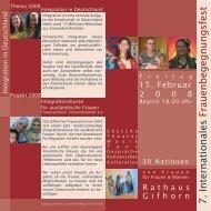 7. Internationales Frauenbegegnungsfest - Stadt Gifhorn