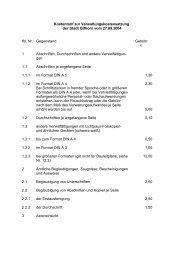Kostentarif zur Verwaltungskostensatzung - Stadt Gifhorn
