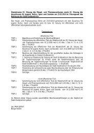 Tagesordnungen der Sitzungen des Haupt - Stadt Großenehrich
