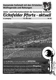 Mai 2010 - Gemeinde Sollstedt