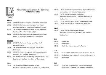 Veranstaltungen 2013 hier klicken!