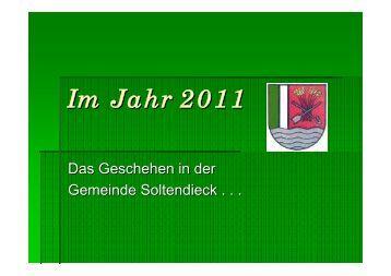 Das Geschehen im Jahr 2011 - Gemeinde Soltendieck