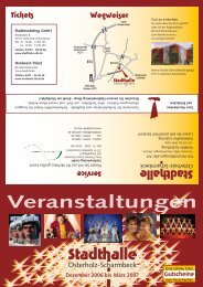 Flyer au§en 2_06 .ai - in der Stadthalle Osterholz-Scharmbeck