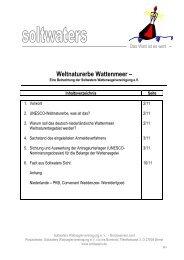 Weltnaturerbe Wattenmeer - Soltwaters Wattseglervereinigung eV