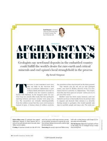9-22-11.Afghanistan'sBuriedRiches.ScientificAmerican