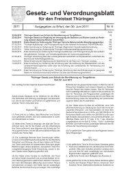 Gesetz- und Verordnungsblatt für den Freistaat Thüringen