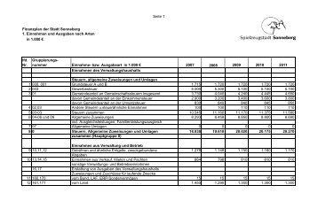 Finanzplan und Investitionsprogramm bis 2011 - Sonneberg