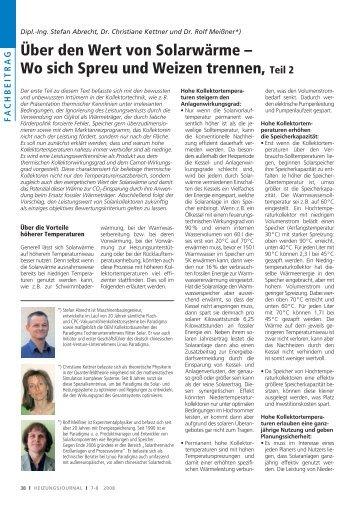 Dipl.-Ing. Stefan Abrecht, Dr. Christiane Kettner und - Sonne Heizt