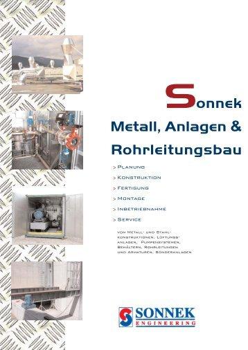 onnek Metall, Anlagen & Rohrleitungsbau - Sonnek Engineering ...