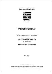 GEWÄSSERWART - (Fachstufe) Reproduktion von - Sächsisches ...