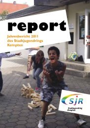 Jahresbericht 2011 - Stadtjugendring Kempten