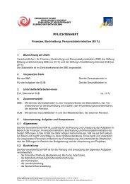 PFLICHTENHEFT - Stiftung Bildung und Entwicklung